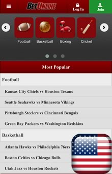 BetOnline Android Sportsbook