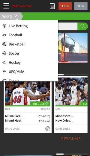 nfl betting spreads bovada sportsbook app
