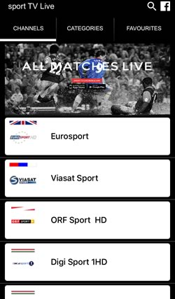 iPhone Live Sports Streaming App