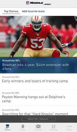 NFL Mobile iPhone Android App