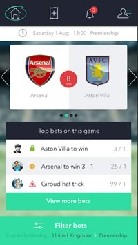 WantMyBet Football Social Network App